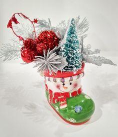 Christmas bootMidcentury Vintagevintage by ArtForYourHeartShop