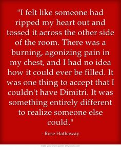 It brakes my heart evey time I read these kinds of thing -team Dimitri ! Book Tv, Book Nerd, Book Series, Quotes From Novels, Book Quotes, Vampire Academy Books, Dimitri Belikov, Rose Hathaway, About Time Movie