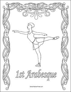 ballet color sheet arabesque. Going to check out these reproducible color sheets from Dance Teacher Press for my little ones!