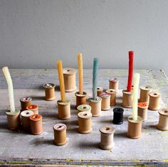 Vintage Candles and Spools
