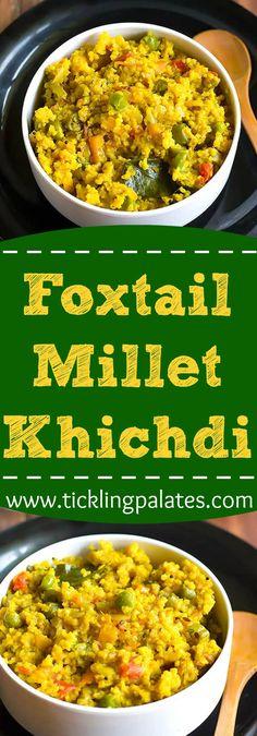 Foxtail Millet Khichdi #vegan #glutenfree #breakfast