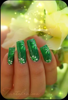 St Patrick day Nail art