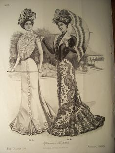 VICTORIAN FASHIONS /1900s Butterick Pattern by PapersAndMore, $10.00