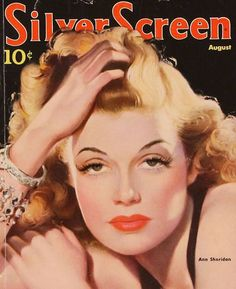 """Rita Hayworth """"Silver Screen"""" magazine cover illustration."""