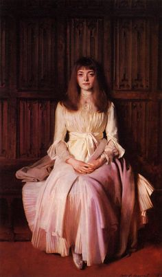 Miss Elsie Palmer : John Singer Sargent. I can't handle the way he paints fabric. Killer.