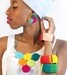 Look book Summer 2013 - Inzuki Designs African Accessories, African Jewelry, Ethnic Design, Bohemian Design, African Women, African Fashion, African Art Projects, African Culture, Warm Colors