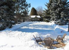 For Friends...a Backyard Ice Skating Rink. Great Way To Enjoy Time With  Friends U0026 Family Outside During The Winter Months. Include Outdoor Lighting  U003d Fun ...