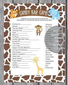 This sweet Where the Wild Things Are baby shower theme is unique and great for a boy baby shower or a girl! We love any story-book baby shower ideas! Baby Shower Candy, Baby Shower Prizes, Baby Shower Favors, Shower Party, Baby Shower Games, Baby Boy Shower, Baby Shower Decorations, Jungle Theme Baby Shower, Shower Centerpieces