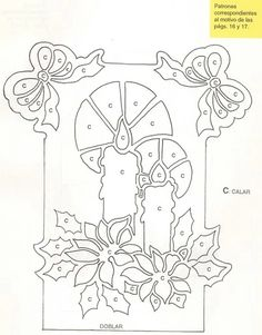 pergamano - Page 5 Christmas Paper Crafts, Christmas Projects, Diy Christmas, Kirigami, Paper Cutting, Coloring Sheets, Coloring Pages, Parchment Cards, Free Stencils