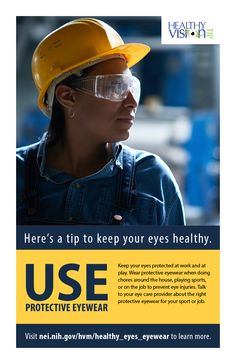 7d18a43798b9 Here s a tip to keep your eyes healthy! Use Protective Eyewear.