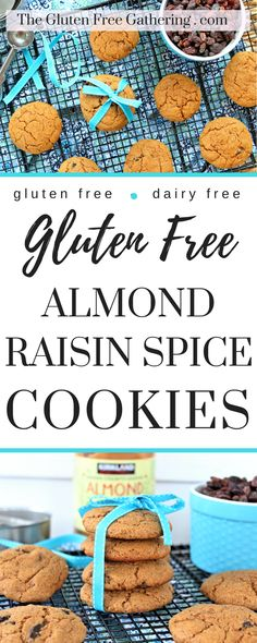 Flourless Almond Spice Cookies – The Gluten Free Gathering - Just a tiny bit of sweetness to satisfy those cravings.  No guilt, healthy treat.  #glutenfree #almondbutter #glutenfreecookies #glutenfreedessert #cookies #healthycookies