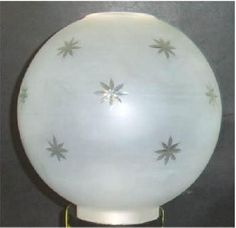 Ten inch ball crystal lamp globe with star cut