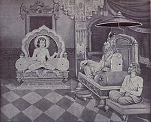Udyoga Parva - Sanatsujata meets Dhritarashtra for counsel.