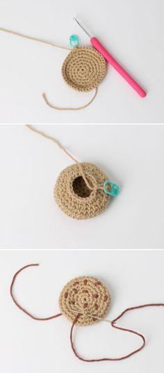 Cute biscuit crochet pattern