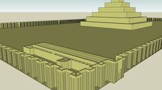 Large preview of 3D Model of King Djoser Step Pyramid - III Dynasty (2727-2655 BC) - Memphis, Saqqara, Egypt