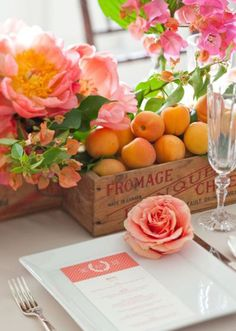 A Pink & Coral Wedding Party   Brunch at Saks