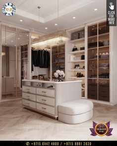 Modern storage systems in the interior of the dressing room allow not only to conveniently store things but simplify the process of selecting the outfit. #luxurydesign #luxury #luxurylifestyle #luxuryhomes #luxuryfurniture #luxurylife #luxurywardrobe #wardrobe #wardrobeideas #wardrobedoors #wardrobeorganization #dressingroomideas #furniture #furnituredesigns #dressingroomdesign Luxury Wardrobe, Luxury Closet, Interior Design Companies, Luxury Interior Design, Wardrobe Organisation, Modern Closet, Storage Systems, Dressing Room Design, Wardrobe Doors