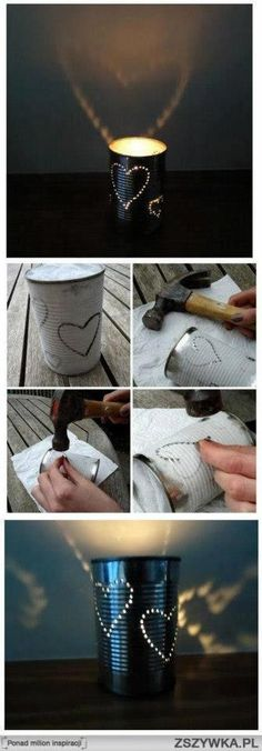 Heart candle holder ... will make one.