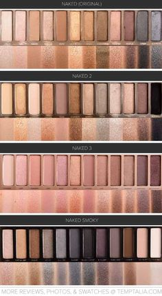 Urban Decay Naked Palettes Swatches | Makeup Tutorials http://makeuptutorials.com/urban-decay-naked-palette