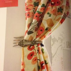 Silverware Curtain Hook | 16 Clever DIY Projects Made With Old Silverware