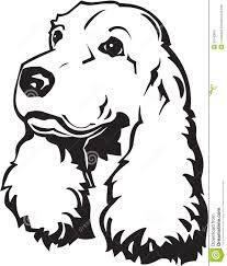 Image result for line art spaniel