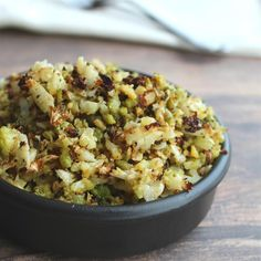 """Roasted Cauliflower """"Rice"""" 