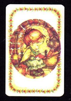 70s-LEE-Swap-Card-Cute-Girl-Reading-Beside-Fire-BLANK-BACK
