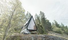 See more about Nolla Cabin, the tiny wooden house with a sustainable approach from Robin Falck in collaboration with Nest. Renewable Sources, Living Place, Concrete Steps, Wooden House, Cabins In The Woods, Large Windows, Helsinki, Design Process, Ecology