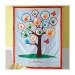 handprint growth chart quilt