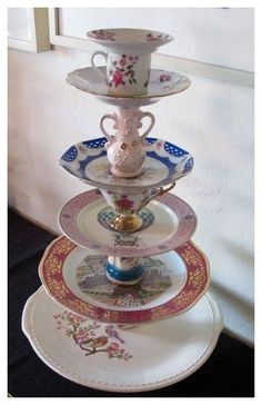 Teacup Crafts, Craft Projects, Projects To Try, Welding Projects, Diy And Crafts, Arts And Crafts, Vintage Cups, Vintage Plates, Vintage China