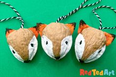 DIY Walnut Fox Ornament for Christmas - Red Ted Art
