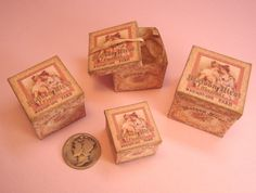 Miniature 112 French Shop Hat Boxes by heirloomsbysusanh on Etsy