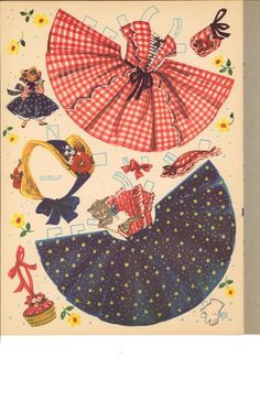 Lindy Lou & Cindy Sue Paper Dolls, Merrill #2564 (10 of 12), aka Candy & Her Cousins reprint