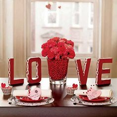 Valentine's Day DIY Centerpieces.
