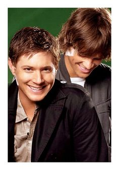 Awww, look at how young they are! Jensen and Jared