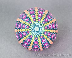 Mandala stone hand painted by AnastasiaHelten on Etsy