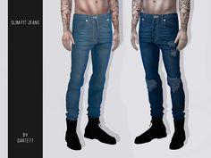 sims 4 cc // custom content clothing // the sims resource // Slim Fit Jeans Sims 4 Mods, Sims 3, Sims 4 Men Clothing, Sims 4 Male Clothes, Male Clothing, Clothing Sets, Maxis, The Sims 4 Jeans, Vêtement Harris Tweed