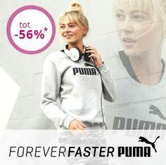 Nu bij Limango: Puma sneakers & kleding korting tot 56% Kom nu langs Limango, want daar geven ze korting op alles van het merk Puma, zoals Puma schoenen, jassen, truien & vesten, lon... #Puma #sportmode