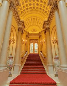 Stairway to The Queen's Office in Buckingham Palace