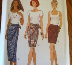 Simple Wrap around Skirt Pattern | wrap skirt in two lengths this page list wrap around skirts products ...