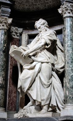 Apostle Saint Matthew, San Giovanni in Laterano, Rome, Itally by Camillo Rusconi, XVIII century