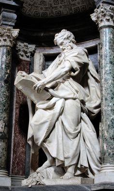 Italian Art Sculpture ~ Apostle Rome, San Giovanni in Laterano Roman Sculpture, Bernini Sculpture, Abstract Sculpture, Bronze Sculpture, Wood Sculpture, Steinmetz, Art Ancien, Italian Art, Renaissance Art