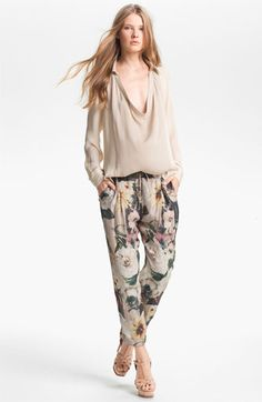 Haute Hippie Draped Silk Blouse available at #Nordstrom