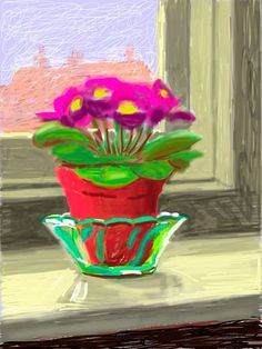 Official Works by David Hockney including exhibitions, resources and contact information. David Hockney Ipad, David Hockney Art, David Hockney Paintings, Painting Collage, Figure Painting, David Hockney Photography, Pop Art Movement, Ipad Art, Iphone