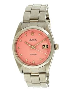 Rolex Womens 1959 OysterDate Watch. I'm not too much of a watch person, but I could definitely sport this!