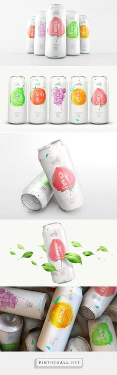 Chunliang Orchard fruit drink by Siongbo Deng. Source: Daily Package Design Inspiration. Pin curated by #SFields99 #packaging #design