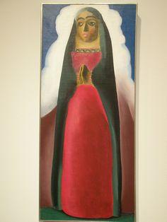Georgia O'Keeffe 'Wooden Virgin', 1929, Milwaukee Museum of Art, Milwaukee, Wisconsin by hanneorla, via Flickr