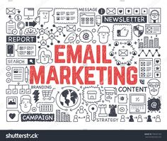 Email Marketing - Hand drawn vector illustration
