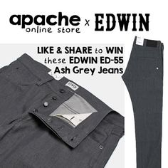 Discover amazing things and connect with passionate people. Edwin Jeans, Prize Draw, Passionate People, Ash Grey, Grey Jeans, Competition, Grey Jeans Outfit, Gray Jeans