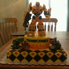 Transformers Bumble Bee Cake